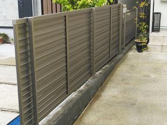 エクステリアリフォーム 風の抵抗を受けにくい、お家のプライバシーを守るフェンス